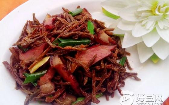 干豆角炒腊肉