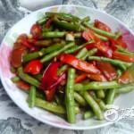 红辣椒炒豆角