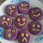表情紫薯糯米饼