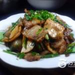 韭菜豆干炒肉