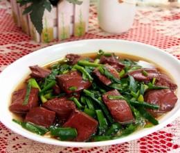猪血怎么做好吃-香辣韭菜猪血