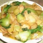 肉炒油菜土豆片