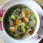 皮蛋紫菜青豆粥