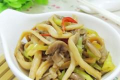 青椒炒平菇