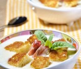 牛奶鲜虾浓汤