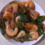 辣椒炒基围虾