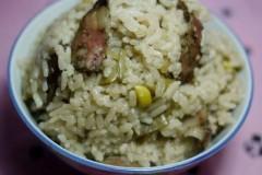 香肠扁豆焖饭