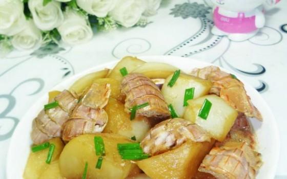 虾蛄烧萝卜