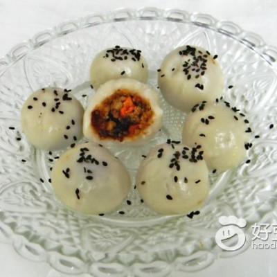 栗子红糖糯米团