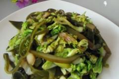 白菜叶炒海带