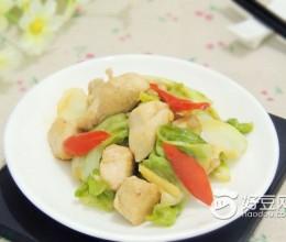 圆白菜鸡丁