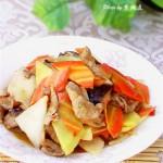香菇山药炒肉片