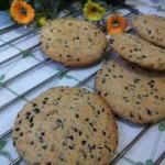 牛奶黑芝麻燕麦饼干