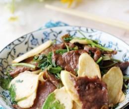 高笋炒大片牛肉