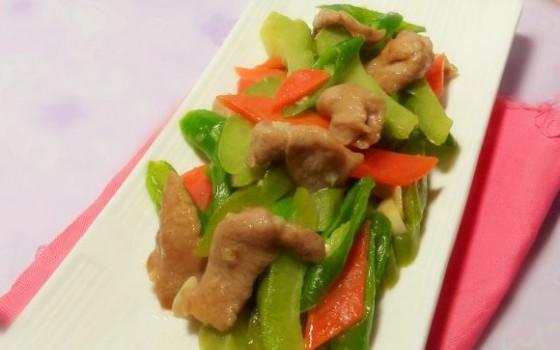 凉瓜条炒肉
