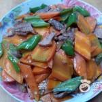 胡萝卜炒肉片