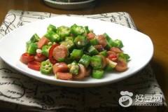 火腿肠怎么做好吃-秋葵炒火腿肠