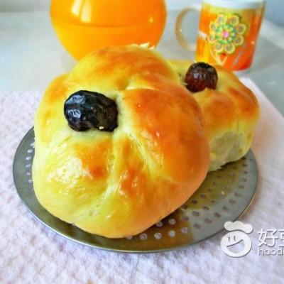 奶香花环面包