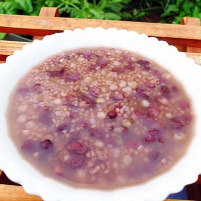 红豆小米荞麦粥