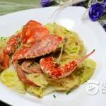 白菜粉丝煮肓蟹