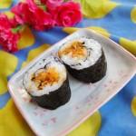 胡萝卜肉松寿司