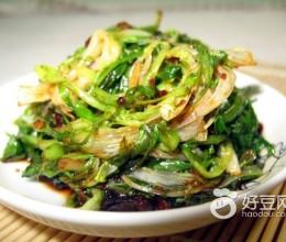 豆豉炒苦苣