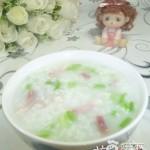 芹菜咸肉大米粥