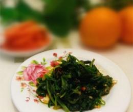 凉拌芹菜叶