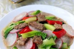 水萝卜毛白菜炒肉