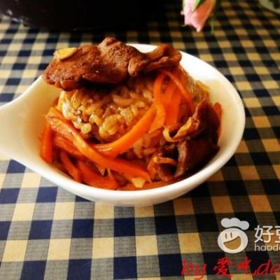 胡萝卜鸡肉焖饭