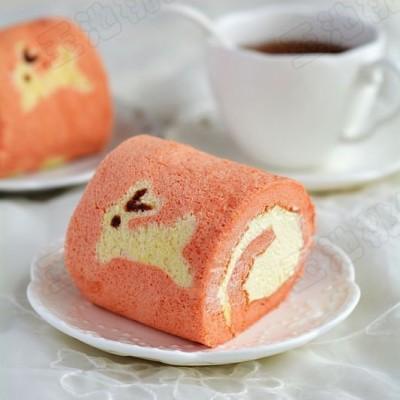 小兔子奶油蛋糕卷