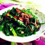 蕨根粉拌菠菜