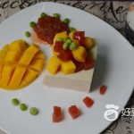 芒果山楂拌奶豆腐
