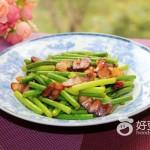 臘肉炒蒜苔