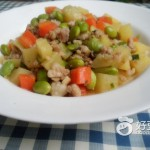 肉末毛豆炒土豆