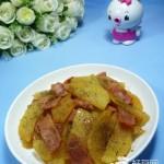 黑胡椒培根炒土豆
