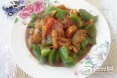 柿子青椒烧茄子