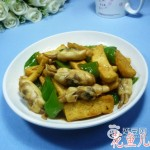 青椒蛏子炒豆腐