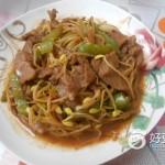 肉片青椒炒豆芽