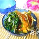 葱香菠菜拌粉条