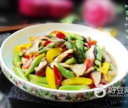 鲜香菇炒芦笋