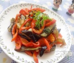 红椒炒紫茄子