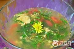 蒲公英蛋花汤