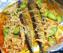 辣酱烤秋刀鱼