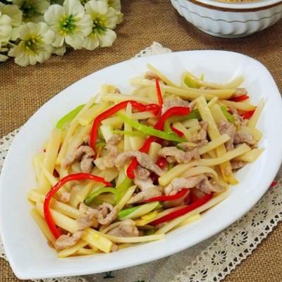 舌尖2美食 竹笋炒肉丝