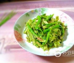 青椒炒菜梗