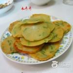 果汁韭菜饼
