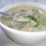 肉末猪肝青菜粥
