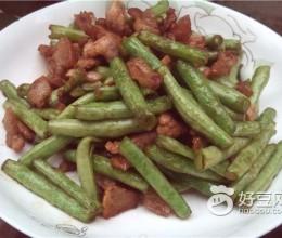 豆角炒猪肉