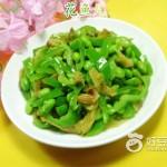 青椒榨菜炒毛豆